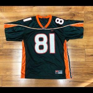 miami hurricane nike youth jersey size large #81